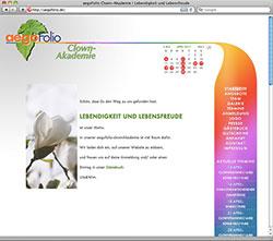 Internetseite für Clown-Akademie