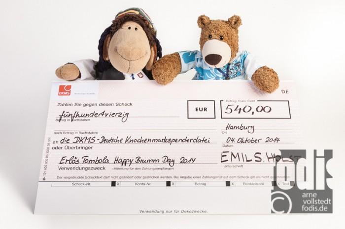 der Brumm-Scheck für die DKMS