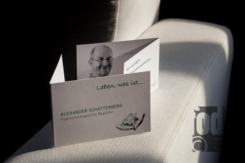 Klappkarte für den Psychoonkolischen Begleiter Alexander Schattenberg